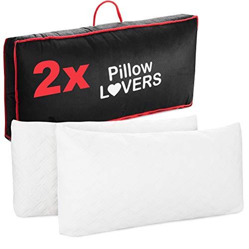 Pillow Lovers Cuscino Sandwich | Doppia Confezione | 90% Imbottitura in Memory Foam | Federa in Tencel | Ipoallergenico | Ottima igiene | Made in Europa | 40 x 80