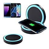 OVERDOSE Samsung Galaxy S8 / S8 Plus Drahtloses Ladegerät, Qi Fast Wireless Charger Rapid Charging Stand for Samsung Galaxy S8 / S8 Plus (Blau)