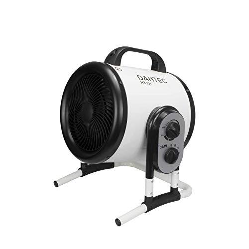 DAHTEC - H3.321 - Ventilador calefactor de diseño orientable 3kW 3000 Watt - 2 niveles de calor - 230...