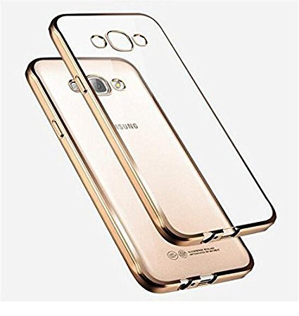 Samsung Galaxy Core 2 SM-G355 Transparent Back Cover New Luxury Gold Plating 100% Original Genuine High Quality Flexible Silicon Back Cover Only From AC Accessories(Transparent/Gold Border)  available at amazon for Rs.145