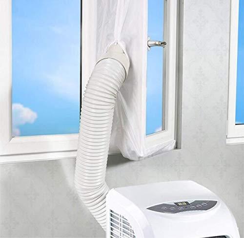 Fensterdichtungsset, Marmor, Stoff, für Fenster, für mobile Klimaanlagen und Wäschetrockner, Weiß -