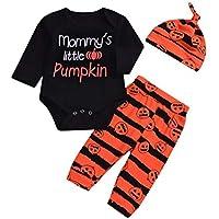 Rosennie Halloween Karneval Babykleidung Neugeborenen Baby Brief Strampler Tops Cartoon Drucken Hosen Kappe Halloween... preisvergleich bei billige-tabletten.eu