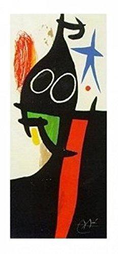 1art1 38911 Joan Miró - Der Sarazene Mit Dem Stern Poster Kunstdruck 100 x 50 cm