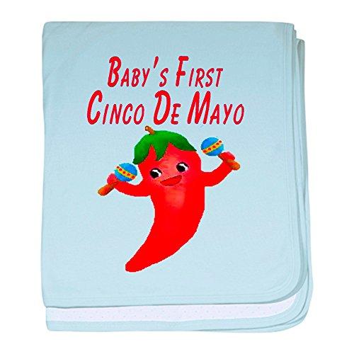 CafePress–Baby 's First Cinco De Mayo Baby Decke–Baby Decke, Super Weich Für Neugeborene Wickeldecke, baumwolle, himmelblau, Standard