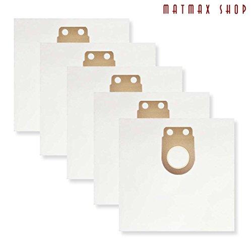 Einweg, selbst Reinigung Filter Staub Tasche für: Metabo AS 1200, ASA 1201–(5Stück)