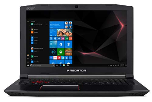 "Predator Helios 300 PH315-51-796B Notebook Gaming con Processore Intel Core i7-8750H, RAM 16 GB DDR4, 256GB SSD, 1000 GB HDD, 15.6"" FHD IPS LED LCD, NVIDIA GeForce GTX 1060, Windows 10 Home"