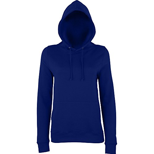 Awdis Hoods Ladies Girlie College Hoodie Turquoise New French Navy