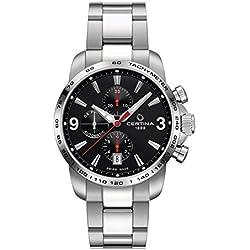 Certina Men's Wristwatch Automatic Chronograph XL Leather C001 427.11.057.00.