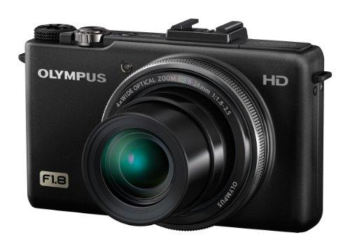 Olympus XZ-1 Digitalkamera (10 Megapixel, 4-fach opt, Zoom, 7,6 cm (3 Zoll) OLED-Display, bildstabilisiert) schwarz