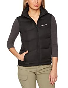 Berghaus Women's Akka Down Padded Windproof Gilet Vest - Black, Size 8
