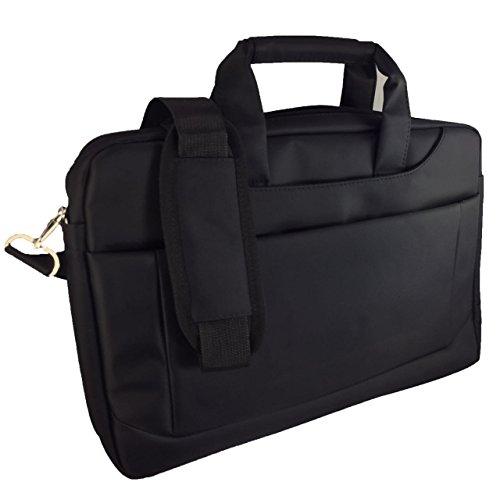 Laptoptasche für Odys Trendbook 14 Pro 35,8 cm (14,1 Zoll) Businesstasche/Aktentasche/Notebooktasche mit Schultergurt - LB Schwarz 3