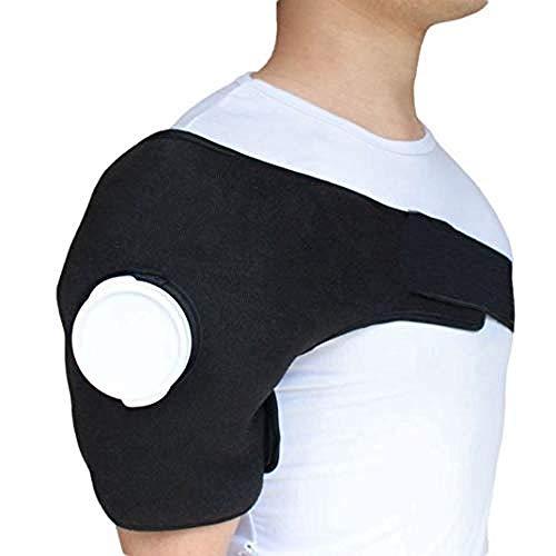 WENZHEN Nackenstütze, EIS Gel Packung Heiß Kältetherapie Wrap Schulterverletzungen Verstauchung Muskel Gelenkschmerzen Schulter entspannende Kompression
