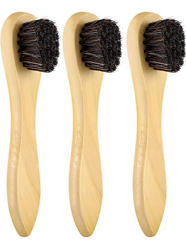 Jovitec 3 Packung Rosshaar Schuhe Polnischen Bürsten Pflege Glanz Polnischen Applikatoren Holzgriff Saubere Daubers für Schuhe Stiefel Ledertasche -