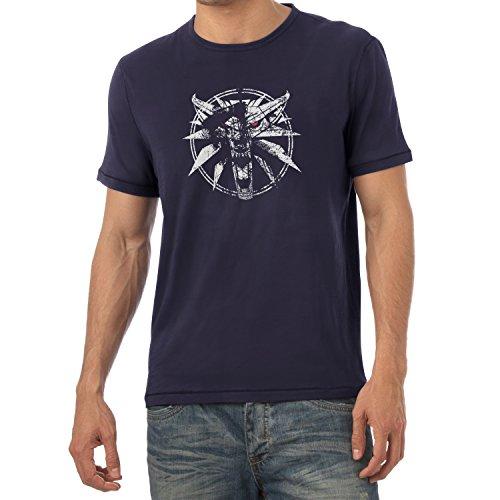 TEXLAB - Hexer Logo - Herren T-Shirt, Größe XL, navy (Dark Assassin Kostüm)