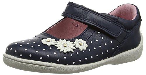 Leder-walking-mary Janes (Start Rite Mädchen Super Soft Daisy Large Mary Jane Halbschuhe, Blau (Marineblau), 23 EU)