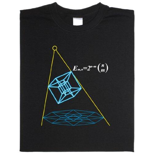 Hypercube - Geek Shirt für Computerfreaks aus fair gehandelter Bio-Baumwolle Schwarz
