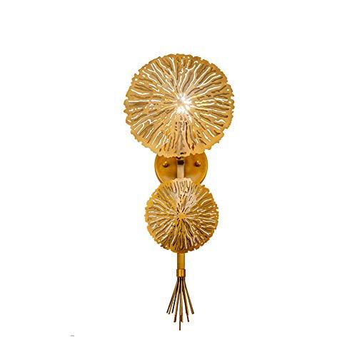 Gold Leaf 8 Licht (ZYTG Gold Lotus Leaf Wandleuchte Led Spiegel Wandleuchte Licht Für Schlafzimmer Küche Treppenhaus Leuchten Industriedekor Leuchte)