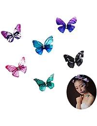 Tocado de novia con mariposas