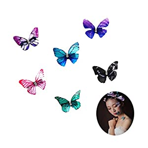 Schmetterling-Haarclips aus Chiffon, Kopfschmuck für Braut