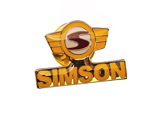 SIMSON PIN Logo gelb rot
