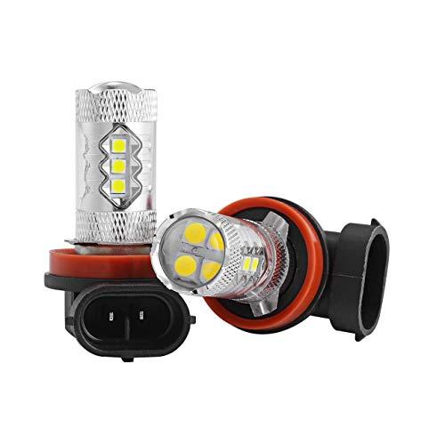 Auxbeam 2 x JP-H16 50W DC 12-24V Fari Fendinebbia LED Auto Indicatori Di Direzione Luce Di Retromarcia Lampadine Antinebbia Giallo Dorato