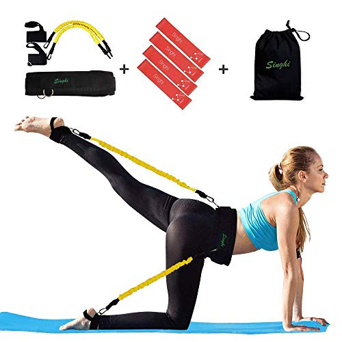 Singhi Booty Widerstandsbänder Set, Booty Lift Belt System Butt and Leg Workout Bands Butt Lifter Tones and Sculpts Butt mit Bonus 4 Widerstandsbändern -