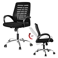 DOSLEEPS Office Chair, Heavy Duty Comfortable V Shape Medium Back Home Office Work Computer Gaming Desk Chair ...