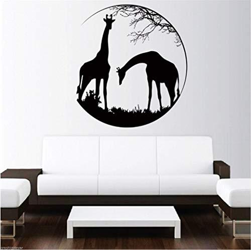 sche mit TierenWandtattoos Dschungel Tiere Afrikanischen Stil Wandaufkleber Vinyl Wandbild Decor 57 * 57 cm ()