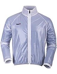 Izas Balbi - Chaqueta de ciclismo para hombre, transparente, talla L