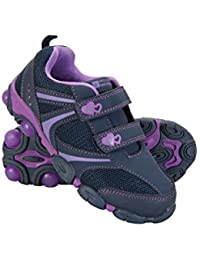 Mountain Warehouse Light Up Junior Shoes - Durable Shoes, Lightweight Footwear, Breathable Kids Shoes, Velcro Fitting- For Walking, Travelling This Summer