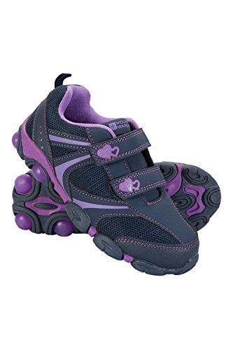 Mountain Warehouse Light up Junior Schuhe - Strapazierfähige Schuhe, Leichte Schuhe, Atmungsaktive Kinderschuhe, Klettverschluss - Schuhwerk Für Reisen Diesen Violett 28 EU