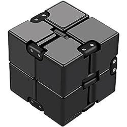 ZenHand Cube Infini Anti Stress - 3 Versions - Marque FR - Restez concentrez: Bureau, Maison, Transports - Adultes   Businessman   Enfants - Jouet   Gadget   Décoration - Noir - Plastique