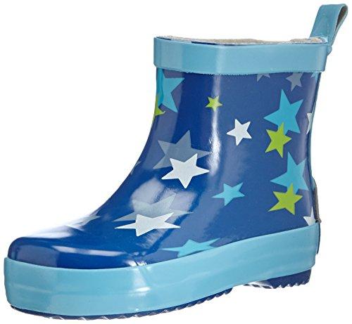 Playshoes Sterne aus Naturkautschuk 180368, Unisex-Kinder Kurzschaft Gummistiefel, Blau (blau 7), 22 EU