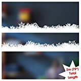 Stickers4 Weihnachtsdeko Weihnachten Fensterdeko - Weihnachtsdeko Fenster - Fenster Deko -Weihnachten - Winter - Flockiger Schnee und Frost Fenster Bordüre - Fenster-Sticker - 2 Meter