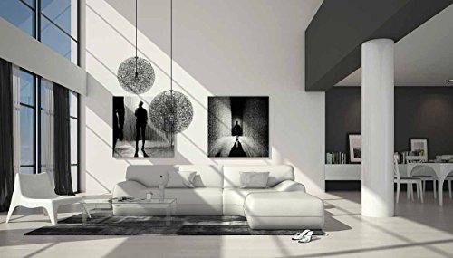 SalesFever Großzügiges Kunstleder Eck-Sofa in weiß L-Form 265x220 cm | Diva-L | Designer Couch-Garnitur Recamiere rechts | Polster-Ecke für Wohnzimmer Weiss 265cm x 220cm -