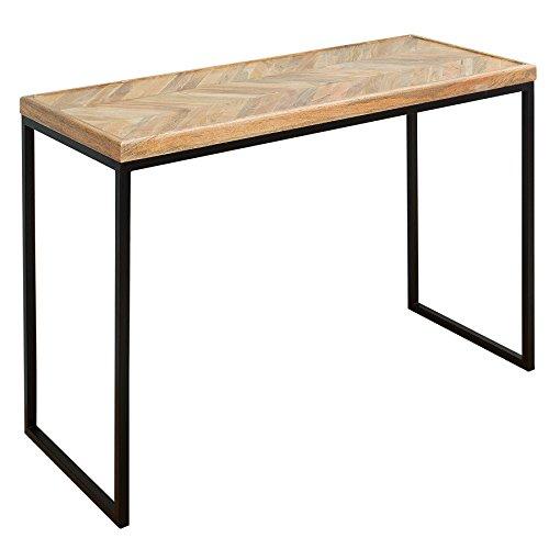Massiver Konsolentisch FUSION 102cm Mangoholz eckig natur Massivholz Konsole Tisch Schminktisch
