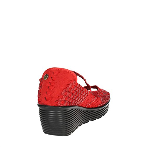 Pregunta PCAKATE-004 Open Toe Chaussures Femme Rouge
