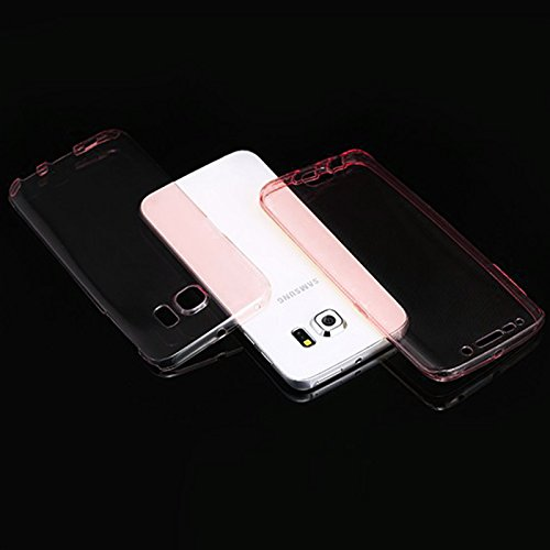 Minto Crystal TPU Full Body 360 ° Hülle iPhone 7 Plus Silikon Case Cover Etui Tasche - transparent Komplett Schutzhülle Rosegold -s6 edge