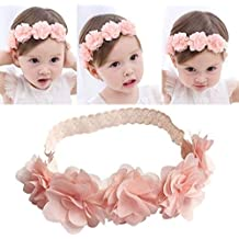 PICCOLI MONELLI Fascia neonata capelli battesimo bambina con fiocchetti a  rose elegante battesimale colore rosa bd4a32e09a8d
