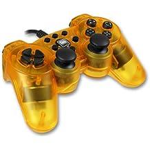 Speedlink Strike² Gamepad für Playstation 2 (Vibration) transparent gelb