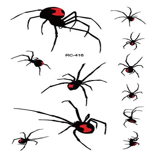 adgkitb Umweltfreundlicher wasserdichter Halloween Stereo Spider lustiger Tattoo Aufkleber RC-416 10.5x6cm
