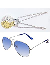 Sheomy Combo Of Friendship Coin Best Friends Pendant And Light Blue Aviator Sunglasses Best Online Gifts