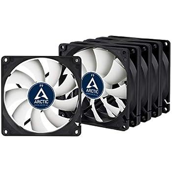 ARCTIC F8 80 mm Standard Case Fan Five Pack I Ultra Low Noise CoolerSilent or