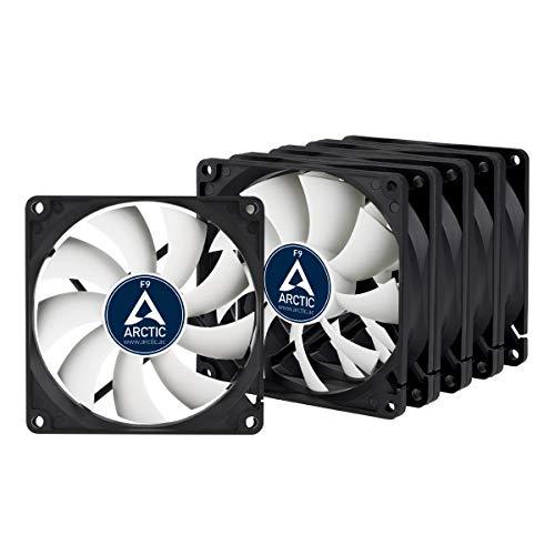 ARCTIC F9 Standard Value Pack - 90mm, Lot de 5 Ventilateurs Haute Performance, Ventilateur Boitier, Refroidisseurs Silencieux pour UC, Roulement à Fluide Dynamique, Support à Broches Standard, 1800RPM
