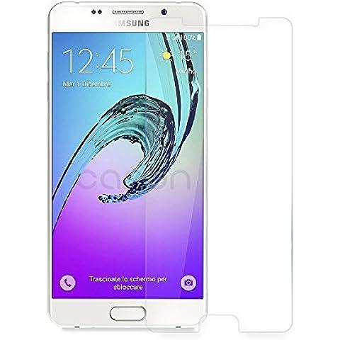 Samsung Galaxy A3 2016 Protector de Pantalla, CANWN Protector de Pantalla de Vidrio Templado Cristal Protector para Galaxy A3 2016 - Dureza de Grado 9H, Espesor 0,33 mm, 2.5D Round Edge-[Ultra-trasparente] [Anti-golpe] [Ajuste Perfecto] [No hay Burbujas]