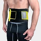 LLZGPZBD Cintura in Vita Autoregistrante Regolabile in Nero Cinturino in Vita per Supporto Lombare Cintura con Corsetto Posteriore Cinturino al Ginocchio