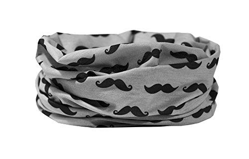 RUFFNEK Moustache Design-Scaldacollo, Passamontagna, Foulard Multifunzionale Sciarpa/Scaldacollo-Taglia Unica per Uomo, Donna e Bambini