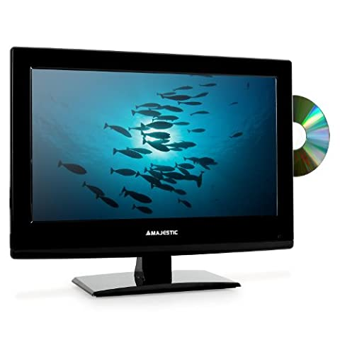 Majestic-Audiola DVX-2154D LCD-Fernseher mit LED Backlight 40cm Fernseher 15,6 Zoll (USD-SD-Slot mit Aufnahme Funktion, integ. DVD-Player, HDMI /DVB-T, HD-Ready, VESA 100)