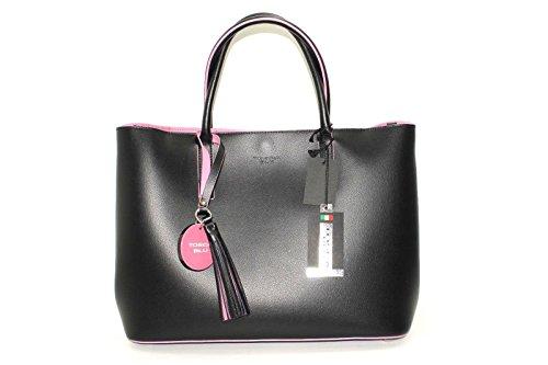 Tosca Blu , Sac pour femme à porter à l'épaule Noir Noir 32x13x26cm
