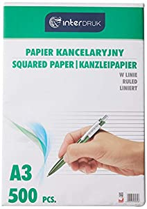 Interdruk PAKAL - Papel para Escribir a Mano (A3, 500 Unidades)